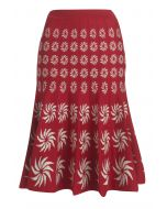 Portobello Skirt - Red & Cream