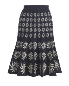 Portobello Skirt - Navy & Cream