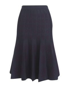 Portobello Skirt - Navy & Purple