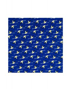 Pocket Square - Blue Flamingo Print