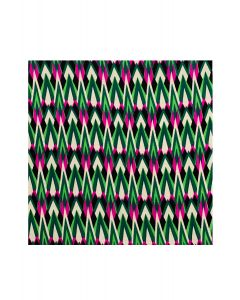 Pocket Square - Pink and Green Stalagtite Print