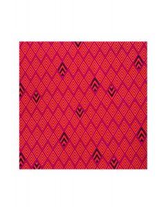 Pocket Square - Pink & Orange Stripey Diamond Print