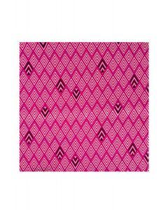 Pocket Square - Pink Stripey Diamond Print