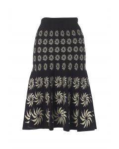 Portobello Skirt - Black & Cream