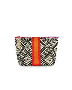 Small Black and Cream Aztec Bag