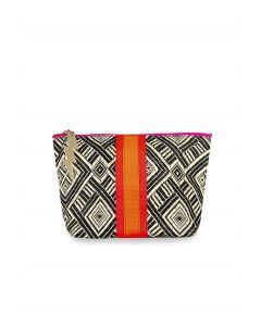 Large Black and Cream Aztec Bag